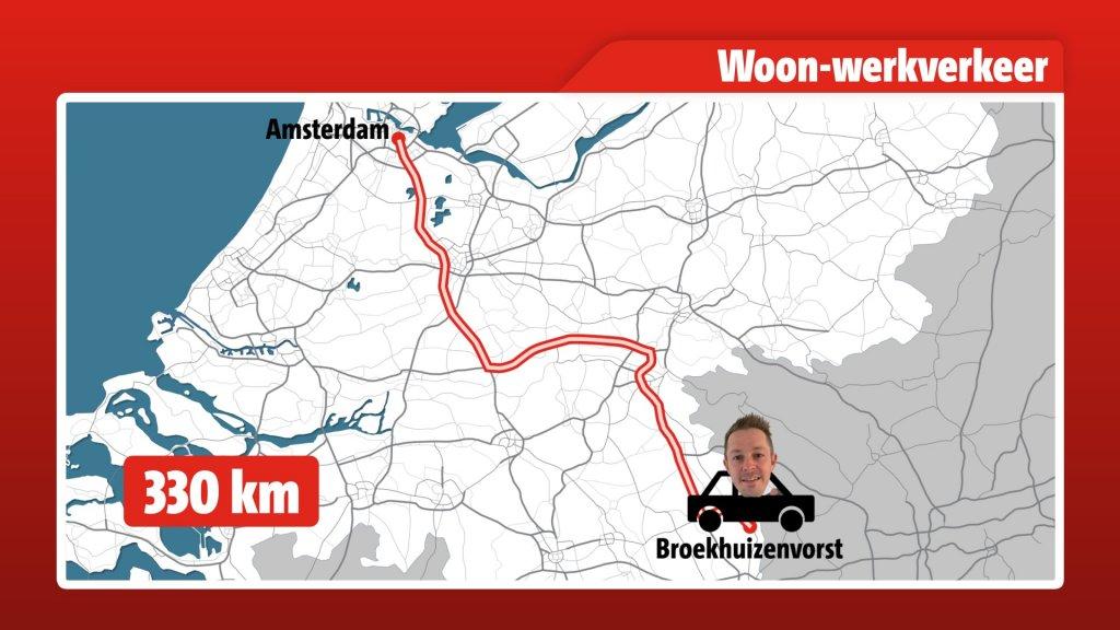 Frans rijdt elke dag 330 kilometer van en naar zijn werk