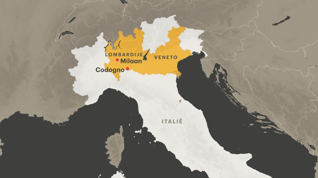 Strenge maatregelen in de regio's Lombardije en Veneto na uitbraak coronavirus.