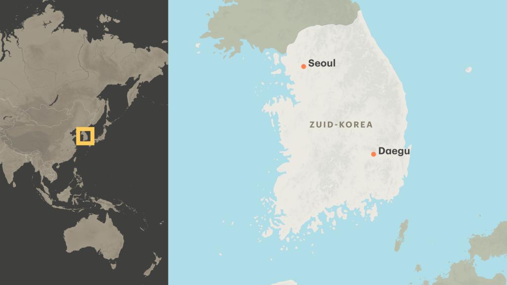 De stad Daegu is met 2,5 miljoen inwoners de vierde stad van Zuid-Korea.