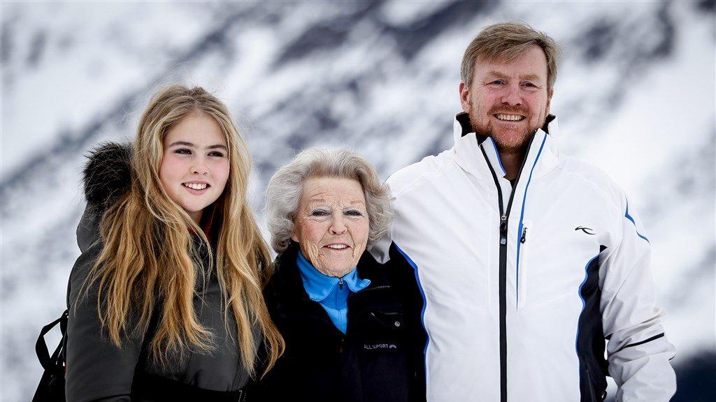 Ook prinses Beatrix gaat nog elk jaar mee op wintersport.