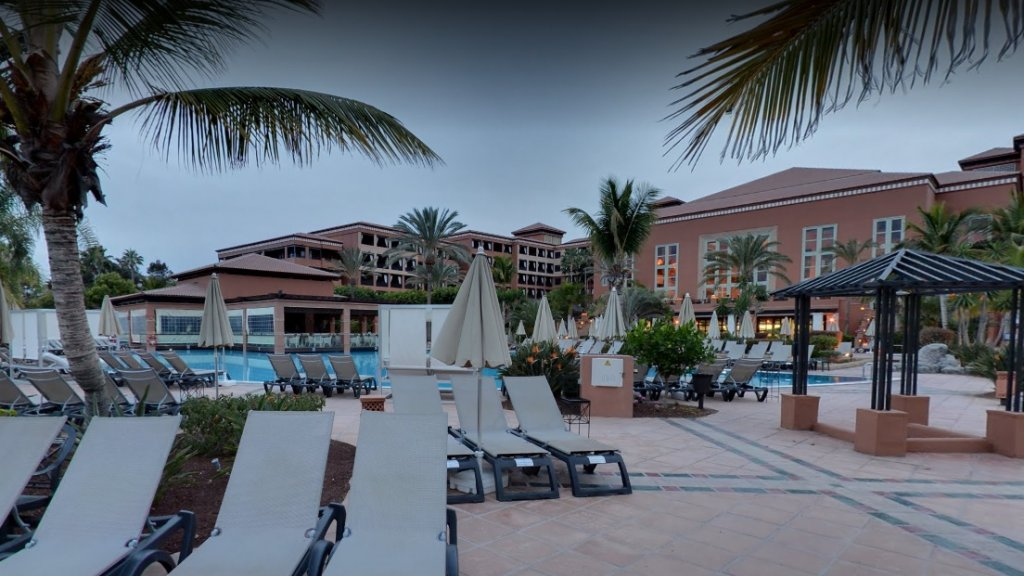 Het hotel op Tenerife.
