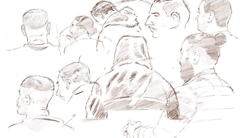 Schets van de verdachten in het liquidatieproces Marengo.