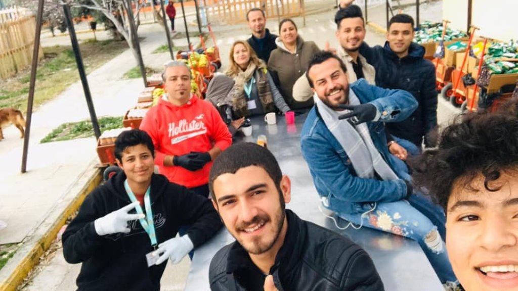 Een team aan het werk op Lesbos