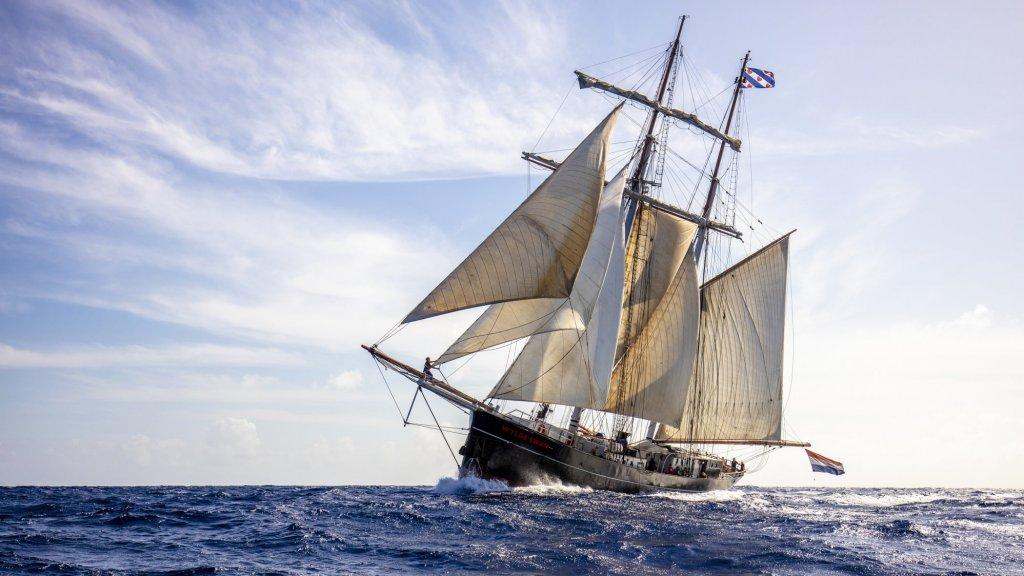 Het schip, de Wylde Swan, waarop ze naar Nederland gaan varen.