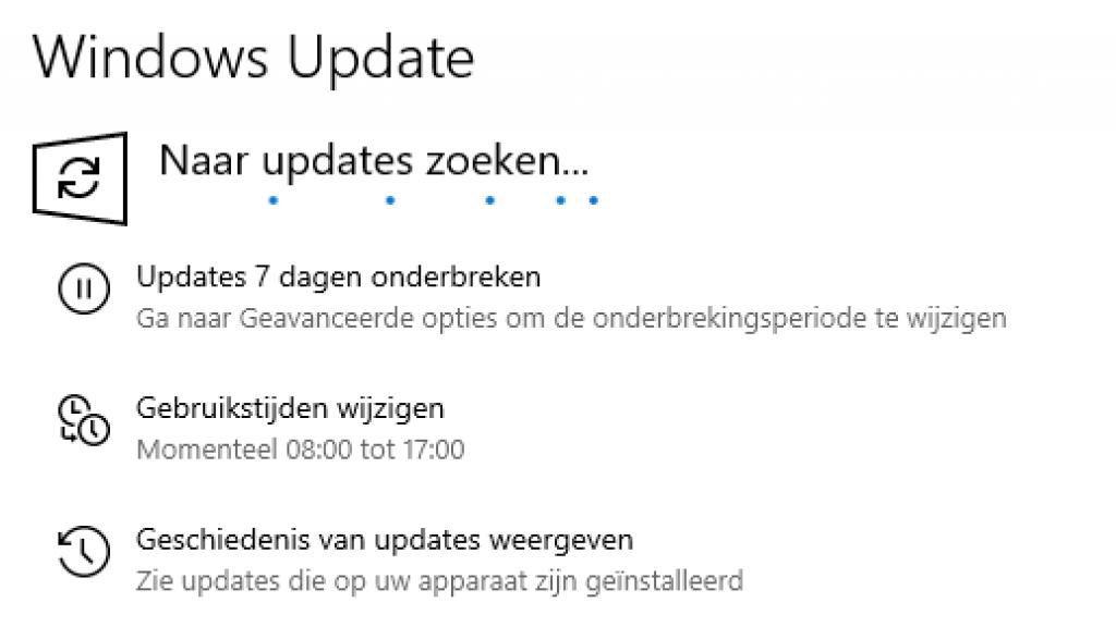 Het is belangrijk om de laatste updates te installeren.