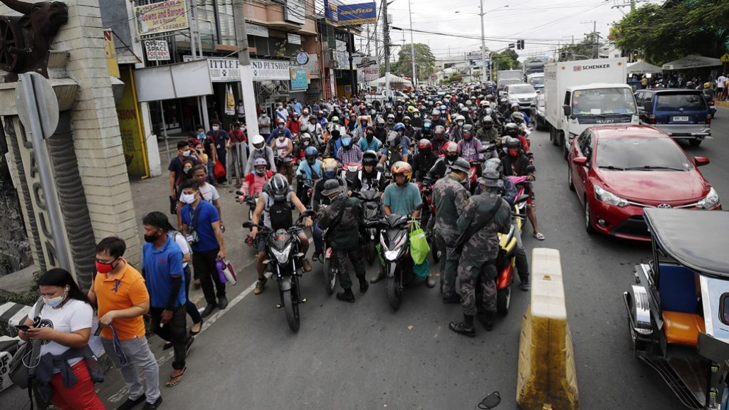 In het noordelijke deel van de Filipijnen worden al strenge controles uitgevoerd.
