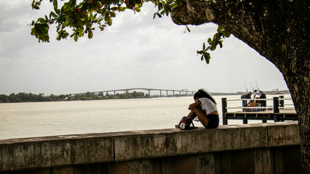 De Waterkant in Paramaribo.