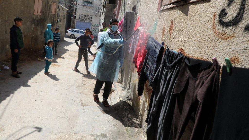De strijd tegen het coronavirus woedt nu ook in Gaza.