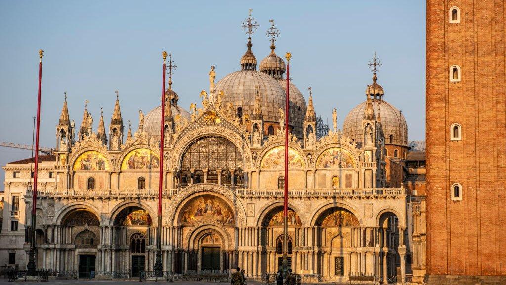 Lege pleinen in Venetië.