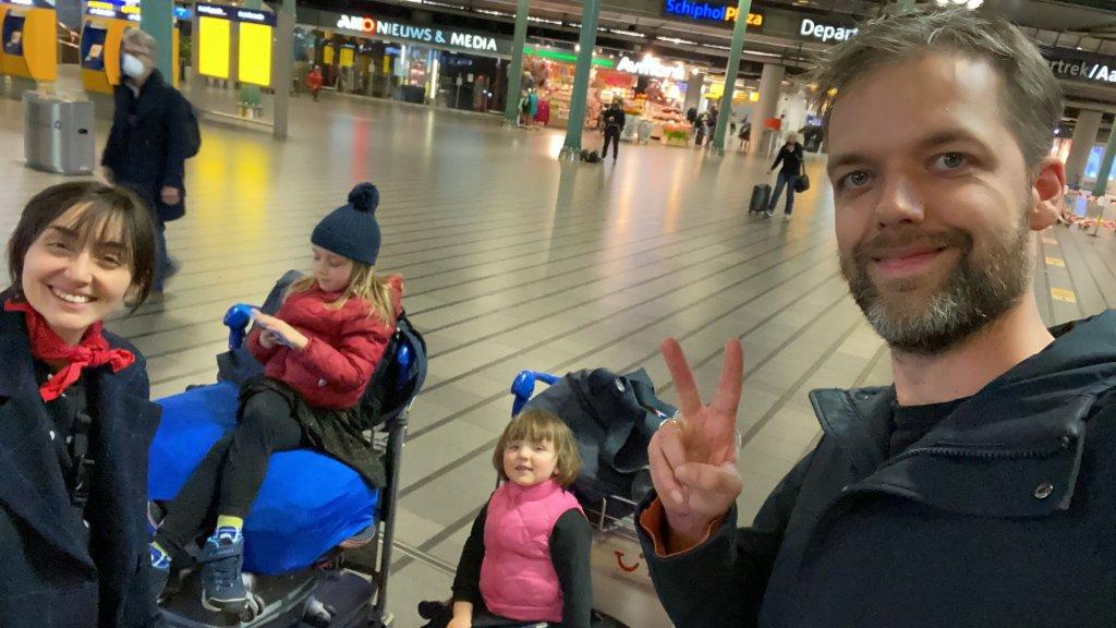 Eindelijk op Schiphol