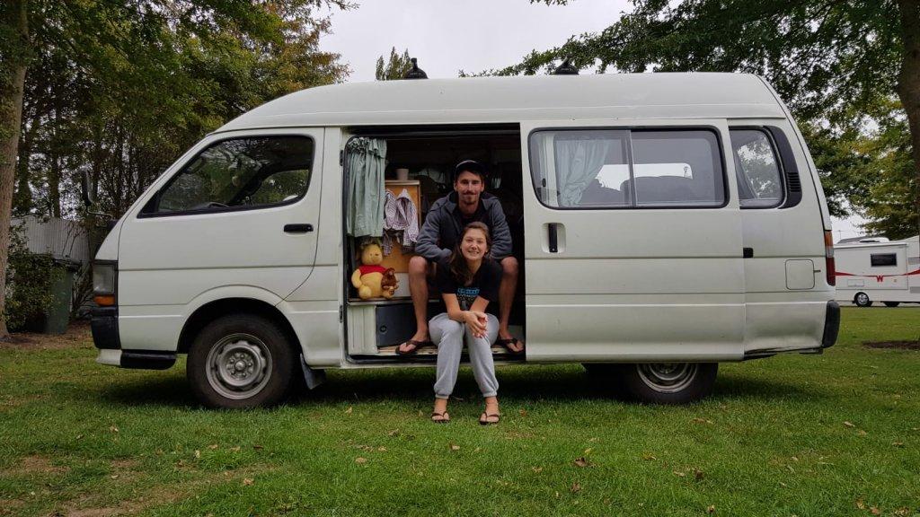Mirna en Niels in Nieuw-Zeeland.
