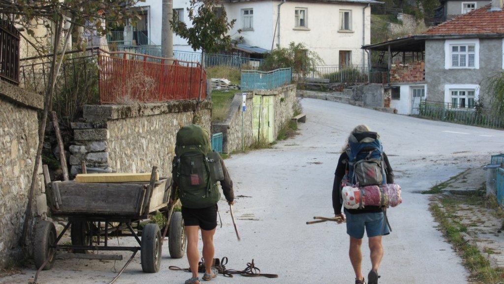 """""""Vorig jaar hielden Peter en ik een wandeltrektocht door Europa. Het was prachtig, maar hier konden we niet jagen."""""""