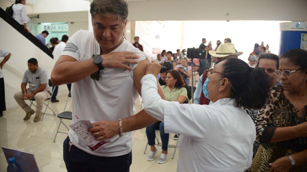 Mexicanen krijgen hier een griepvaccin