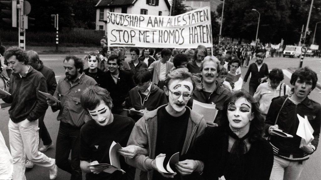 Een demonstratie in 1981.
