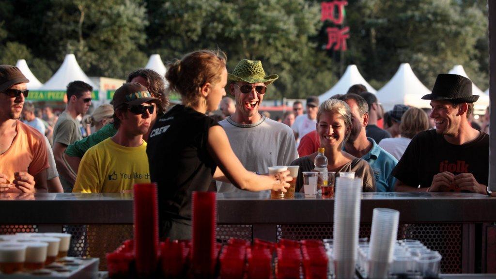 Eventure leverde horecapersoneel op festivals, zoals hier op Lowlands.