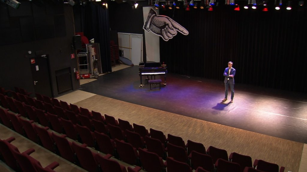 Het failliete theater in Boxmeer.