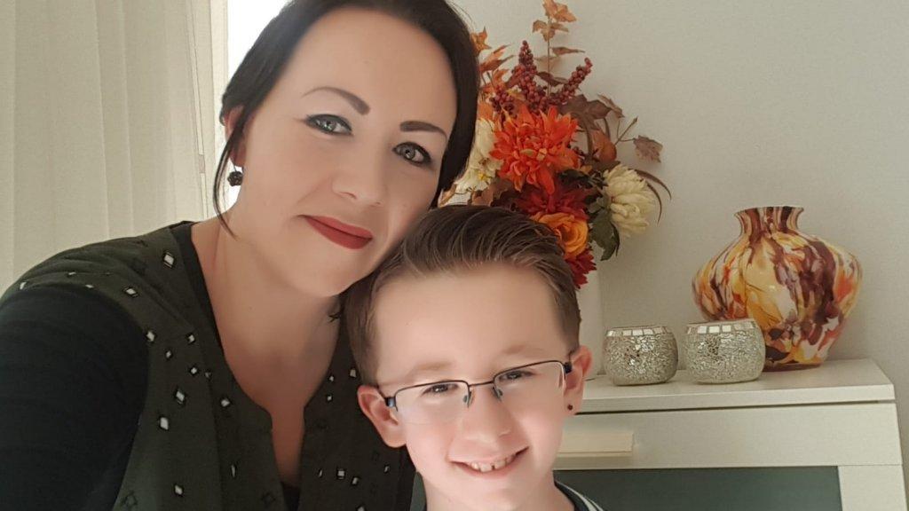 Bianca en haar zoon.