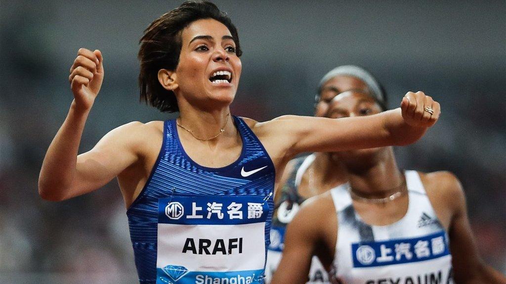 De Marrokaanse Rababe Arafi won vorig jaar de 1500 meter op de IAAF Diamond League Shanghai.
