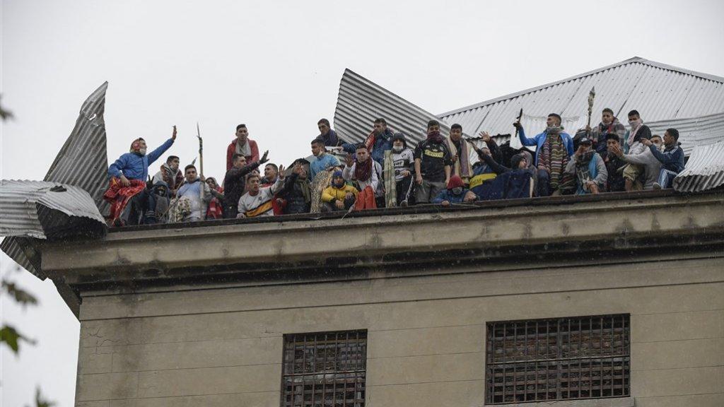 Ook in de Argentijnse hoofdstad Buenos Aires willen de gevangenen vrijheid.
