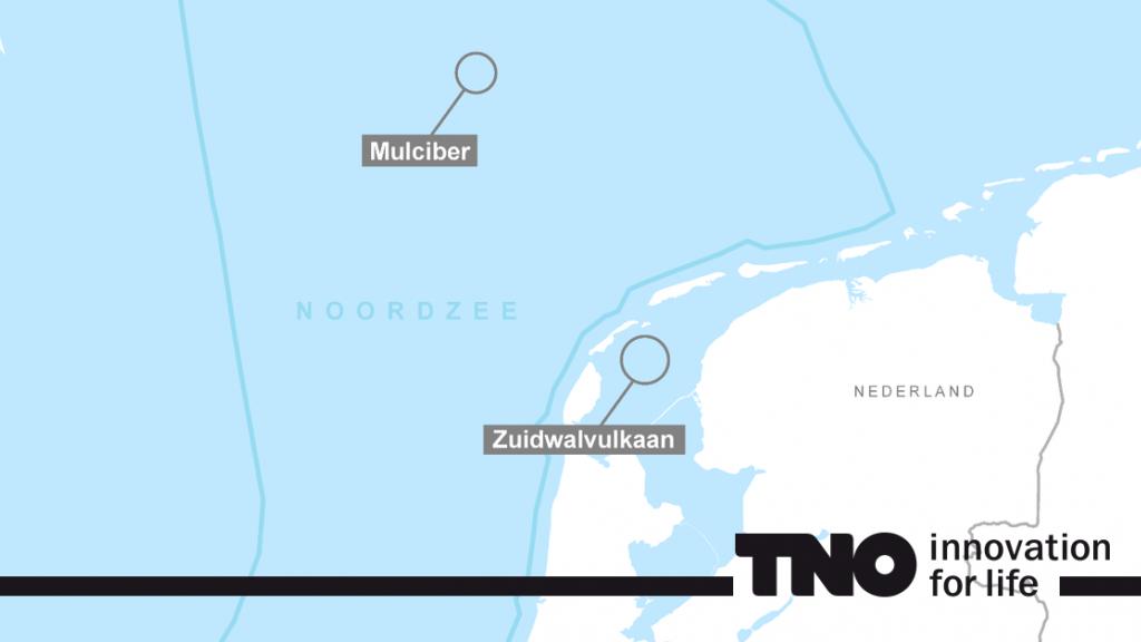 De vulkaan ligt op ongeveer 100 kilometer ten noordwesten van Texel.