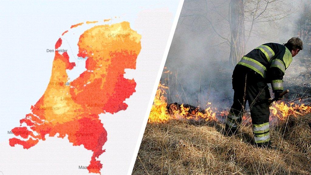 Recorddroogte verhoogt risico op brand: zo droog is het bij jou