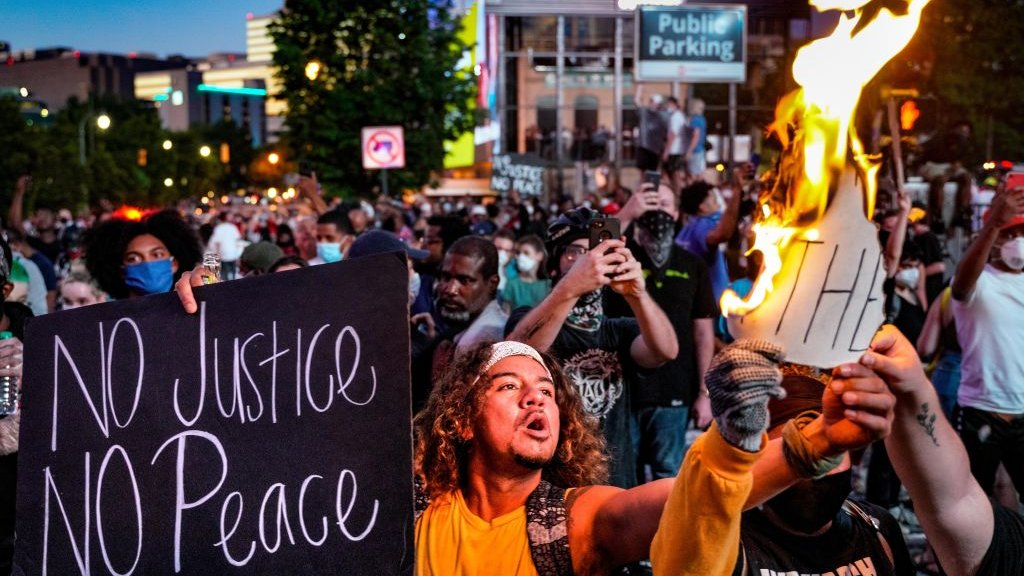 'Geen gerechtigheid, geen vrede'. Atlanta.