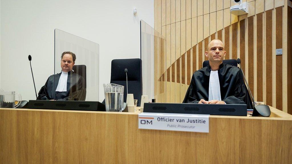 Thijs Berger en Ward Ferdinandusse, de officieren van justitie die vandaag de hele dag aan het woord waren.