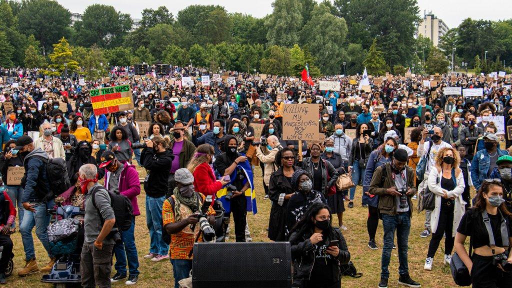 Demonstratie in de Bijlmer.