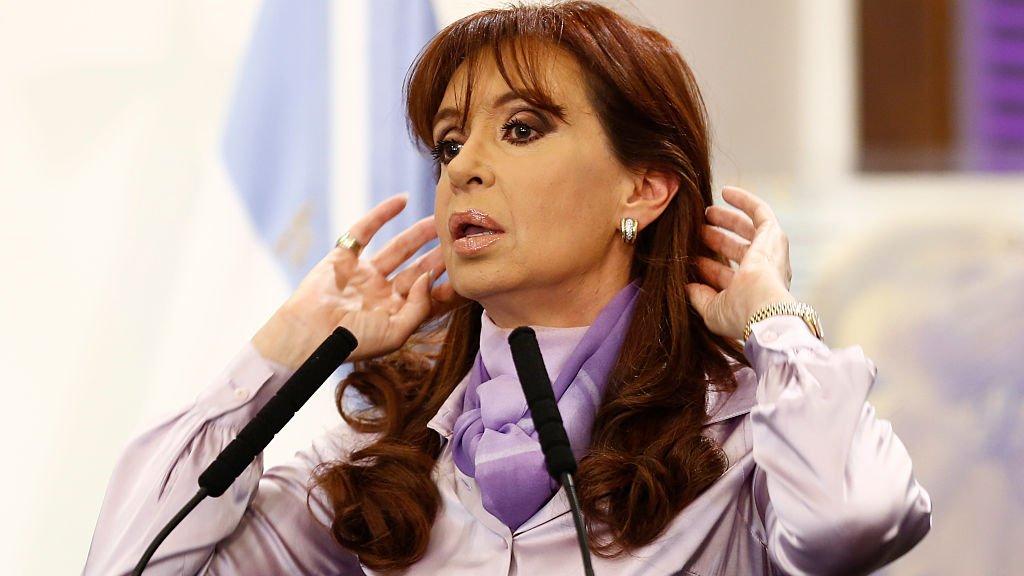 Oud-president Cristina Fernández de Kirchner (2007-2015) is nu vicepresident onder Alberto Fernández.
