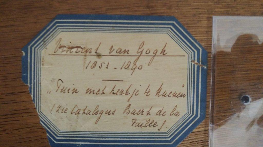 De achterkant van het werk van Van Gogh.