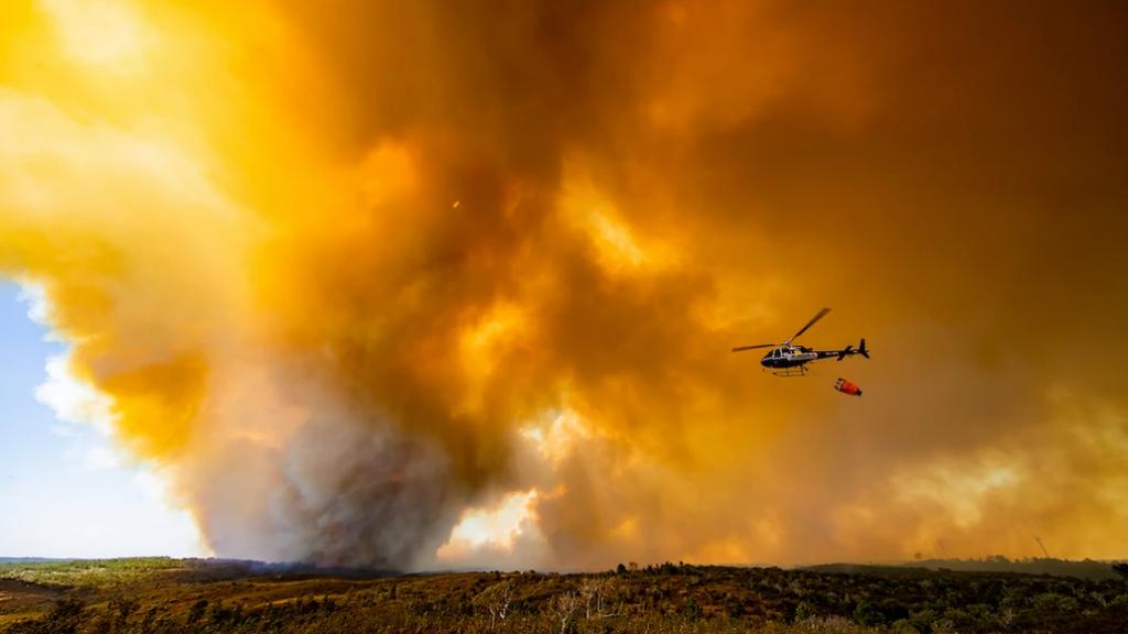 Bosbrand in Portugal bij het gebied van Dave en Sonya.