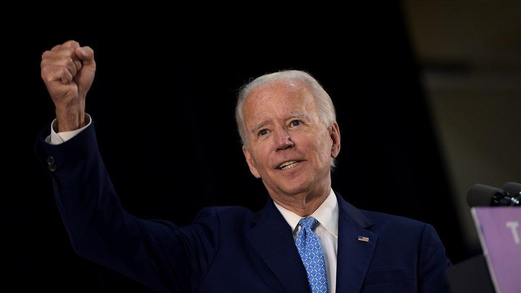 Bij uitdager Joe Biden stroomt het geld de campagnekas in.