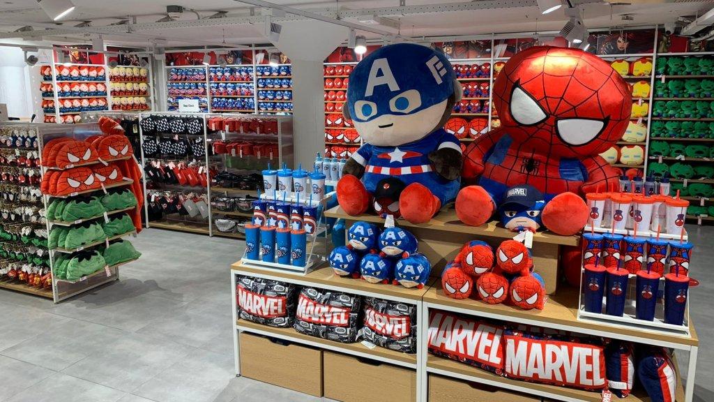 De Marvel-kelder in het nieuwe filiaal