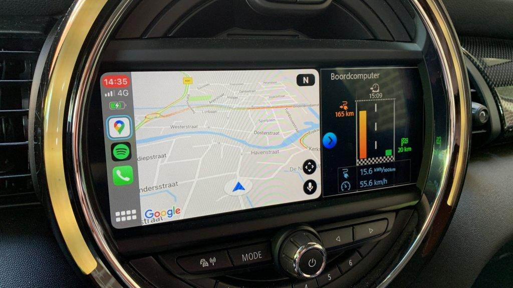 Ideaal: Google Maps links, Mini interface rechts