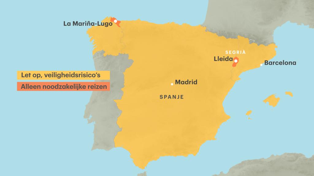 Nederlanders wordt afgeraden naar de regio rond Lleida af te reizen