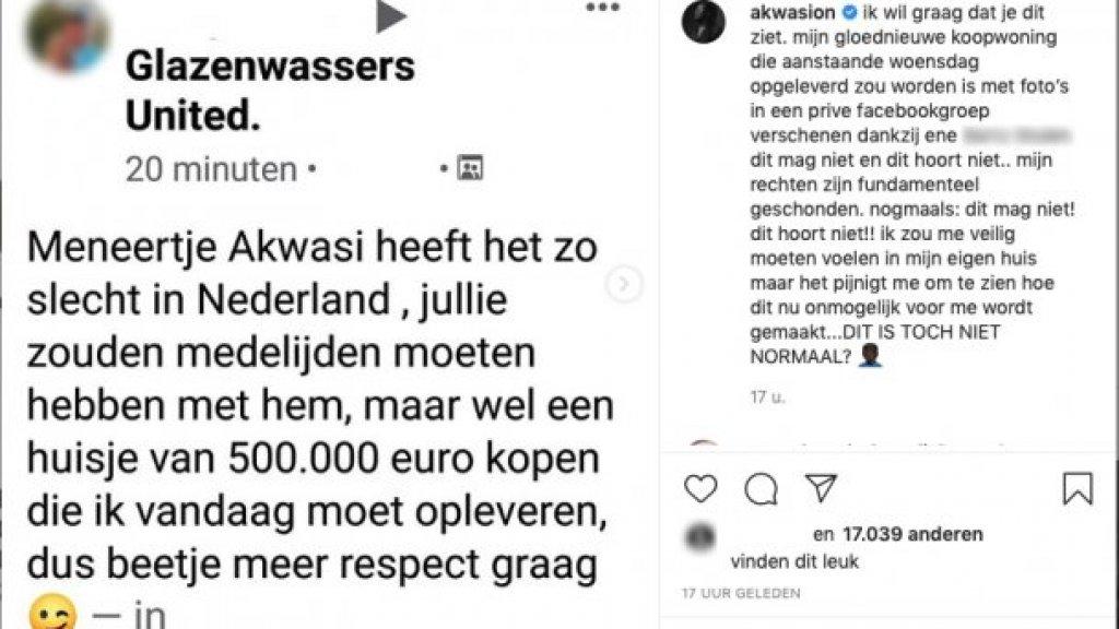 De Instagrampost van Akwasi.