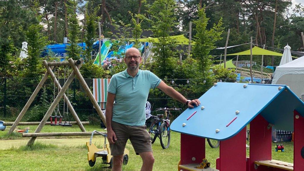 Pierre Martens (56) op zijn camping de Paal in Gelderland