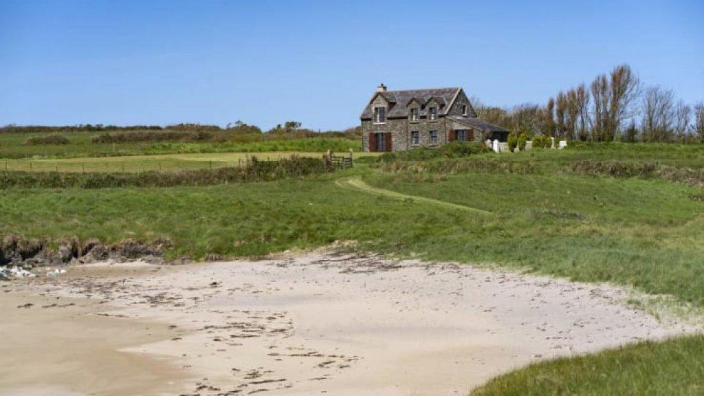 Een guest house op Horse Island.