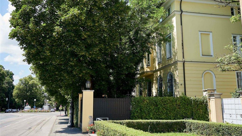 Het vermoedelijke huis van Marsalek in München.