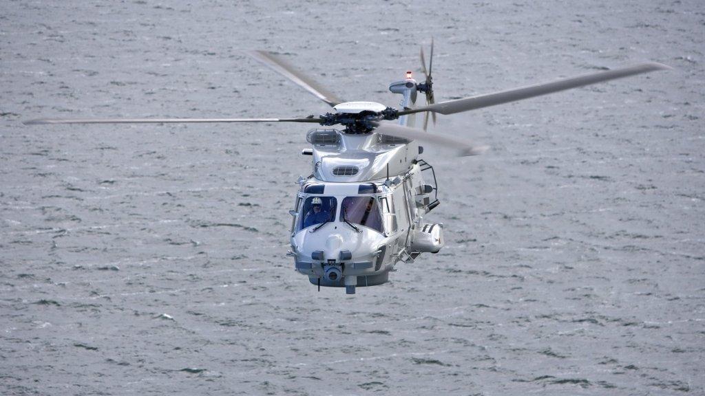 De NH90-maritieme gevechtshelikopter.