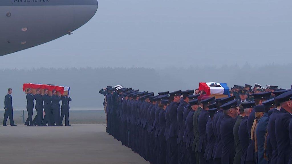 Een ramp-ceremonie in 2015.