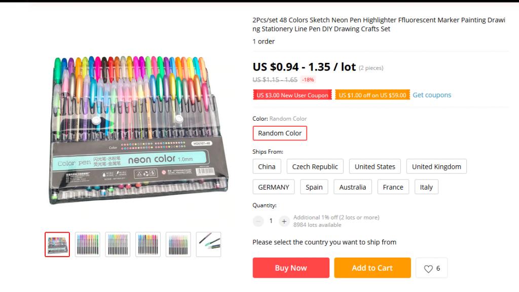 Voor precies dezelfde set pennen betaalde Eva het tigvoudige.
