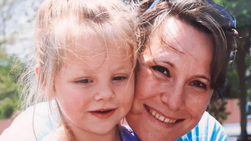 Ingrid en haar dochtertje