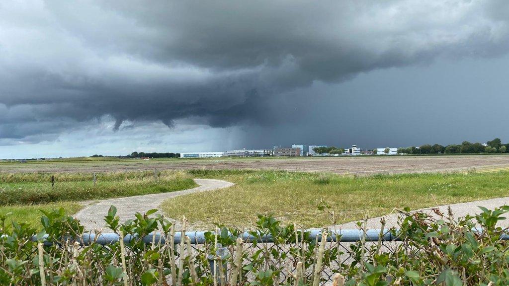 Deze foto is vandaag gemaakt bij Den Helder.