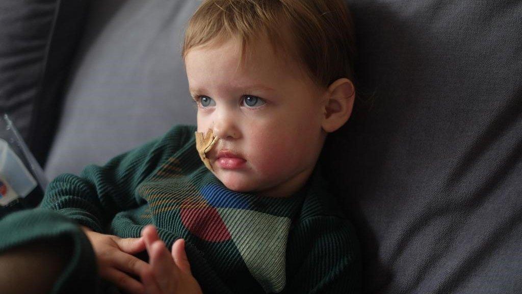 Vesper is nu nog voor 100 procent afhankelijk van de sondevoeding.