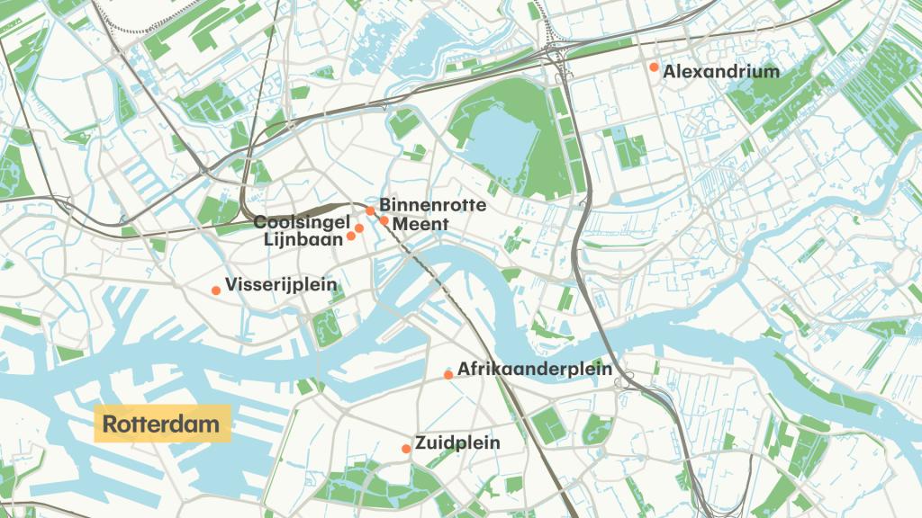 Op deze plekken in Rotterdam geldt de mondkapjesplicht.