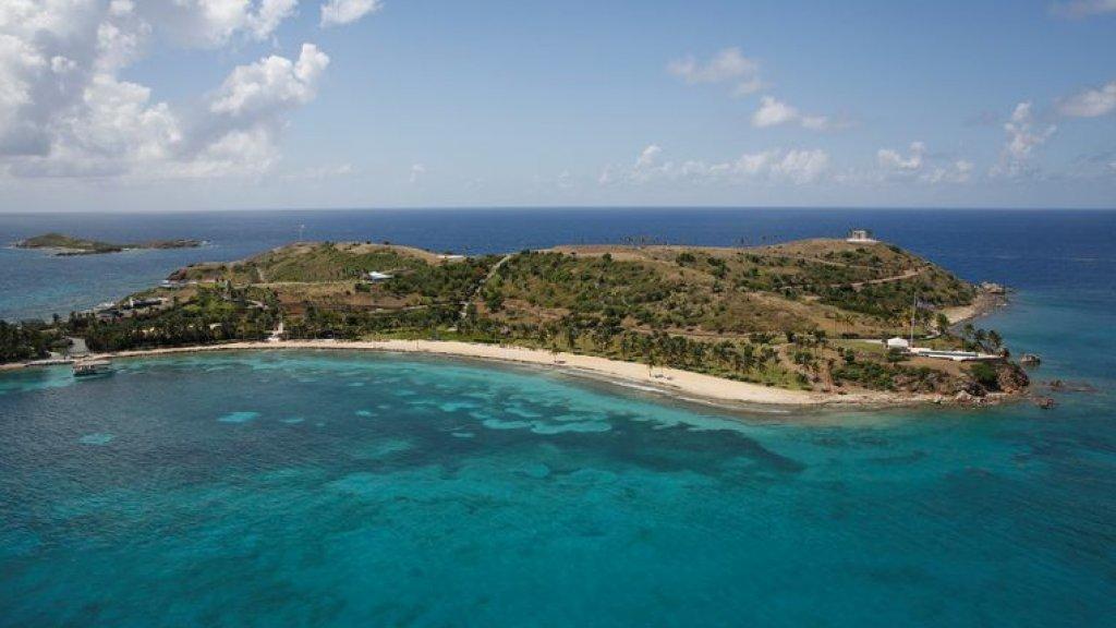 Het privé-eiland op de Caraïben