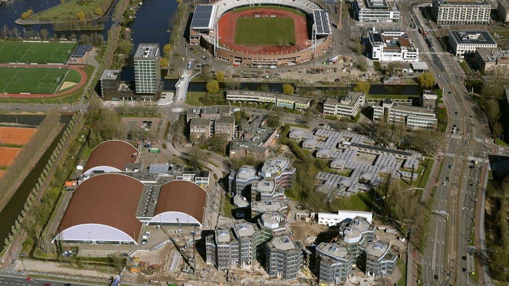 Olympisch Stadion vanuit de lucht.