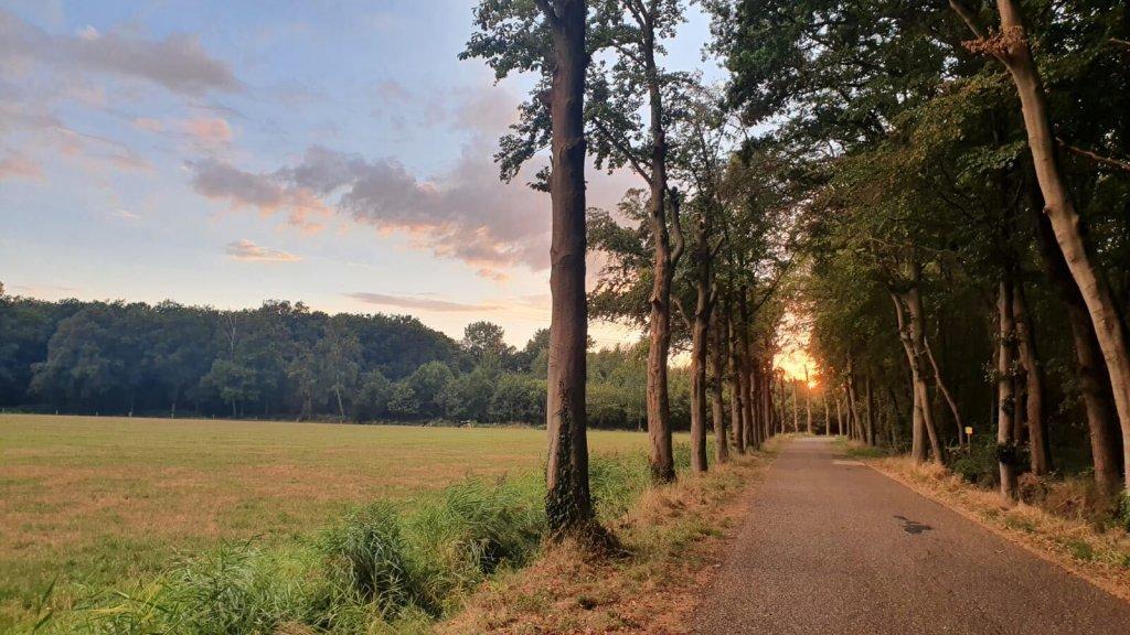 Zonsondergang in Winterswijk