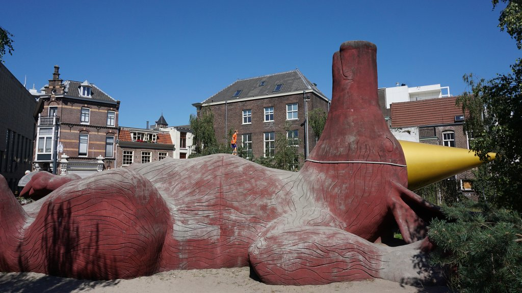 Het feestaardvarken in hartje Arnhem.